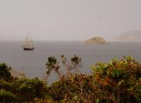 Leeuwin anchored near Seal Island