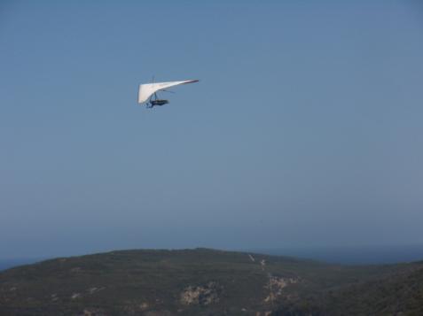 Hang gliding over Frenchman Bay